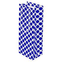 Blue Flower Ribbon Wine Gift Bag