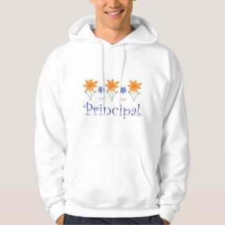 Blue Flower School Principal Gift Hoodie