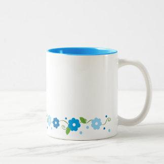 Blue Flower Serpentine Mug