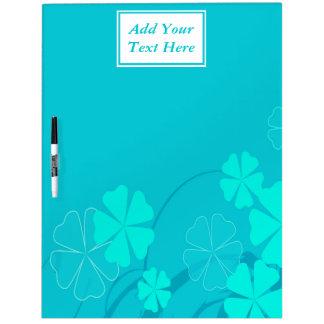 Blue Flower Shapes Large Dry Erase Board