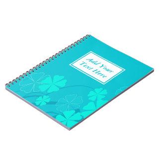 Blue Flower Shapes Spiral Notebook