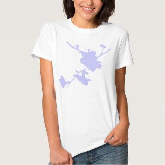 Blue Flower Silhouette Shirt