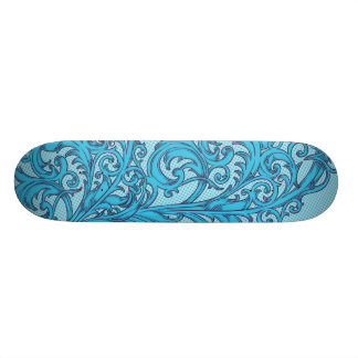 Blue Flower Skateboard