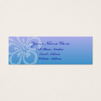 Blue Flower Skinny Profile And Business Card