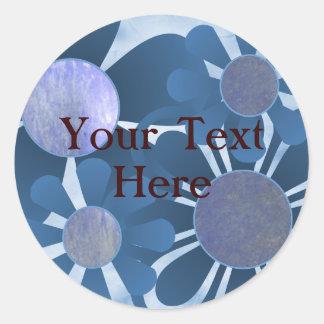 Blue Flower Stickers