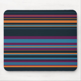 Blue Flower Stripes Mouse Pad