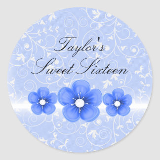 Blue Flower Sweet16 Sticker