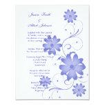 Blue Flower Template Wedding Invitation Custom Invite