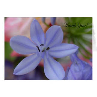 Blue flower Thank You Card