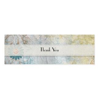 Blue Flower Thank You Mini Business Card