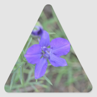 blue flower triangle sticker