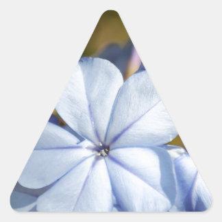 Blue Flower Triangle Sticker