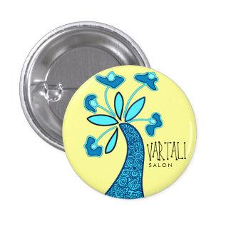 Blue Flower Vartali Round Button