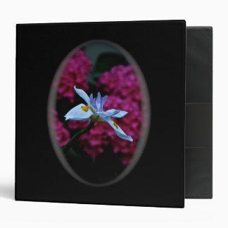 BLUE FLOWER WITH PINK BACKGROUND BINDER