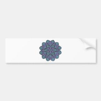 Blue flower woven pattern bumper sticker