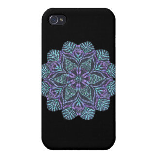 Blue flower woven pattern iPhone 4 case