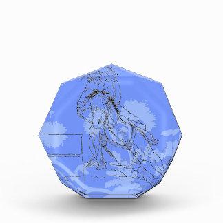 Blue Flowered Barrel Racer Award