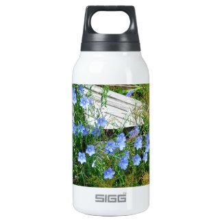 blue flowered bridge insulated water bottle