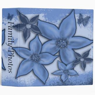 "Blue Flowers 2"" Binder"