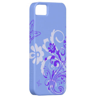Blue Flowers and Butterflies iPhone SE/5/5s Case