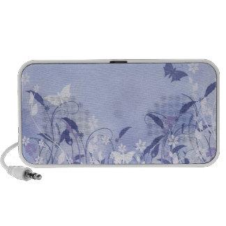 Blue flowers and butterflies mini speaker
