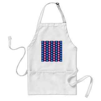 Blue Flowers and Pink Flowers, Pattern. Adult Apron