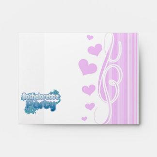 blue flowers bachelorette party ocean bridesmaids envelopes