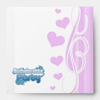 blue flowers bachelorette party ocean bridesmaids envelope