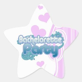 blue flowers bachelorette party ocean bridesmaids star sticker