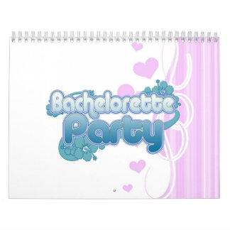 blue flowers bachelorette party ocean bridesmaids calendar