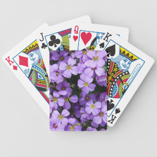 Blue Flowers Bicycle Playing Cards