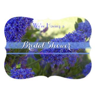Blue Flowers Bridal Shower 1 Card
