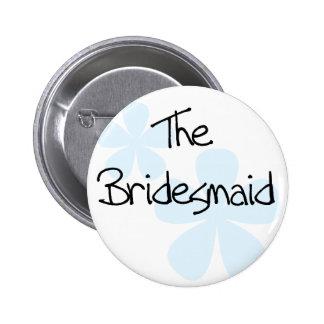 Blue Flowers Bridesmaid Pins