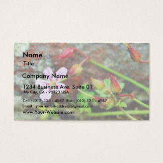 Blue Flowers Buds Business Card