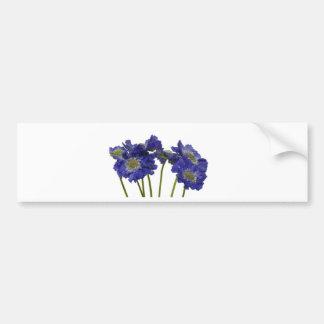Blue Flowers Bumper Sticker
