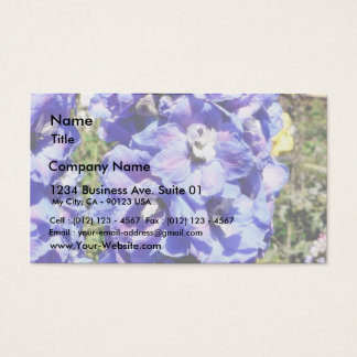 Blue Flowers Business Card