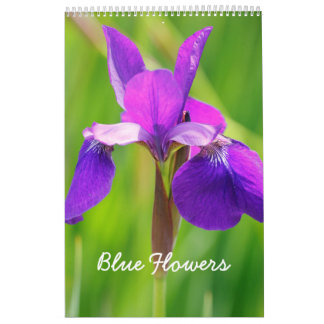 Blue Flowers Calendars