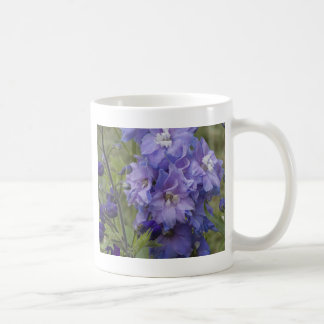 blue flowers coffee mug