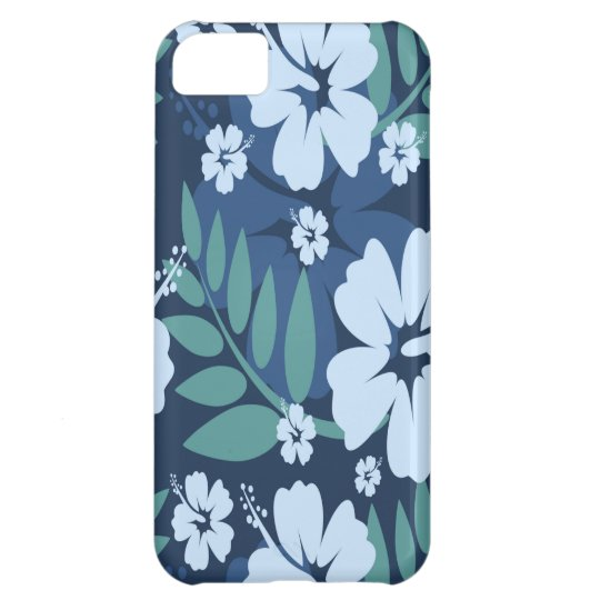 Blue Flowers Cover For iPhone 5C
