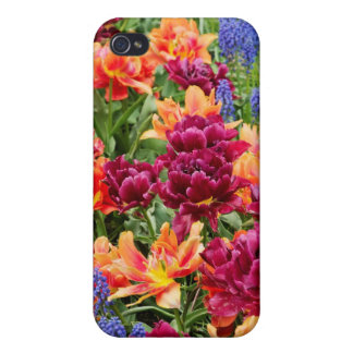 blue flowers covers for iPhone 4