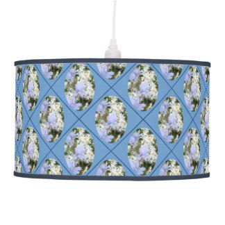 Blue Flowers & Daisies on Blue Pendant Lamp