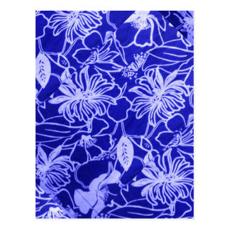 Blue Flowers Design by Admiro Postcard
