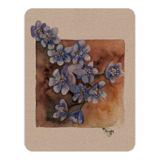 Blue Flowers design Card