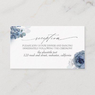 Blue Flowers Foliage Reception Enclosure Card
