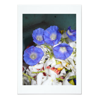 Blue Flowers Glory Of Nature 5x7 Paper Invitation Card