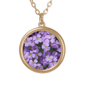 Blue Flowers Gold Plated Necklace