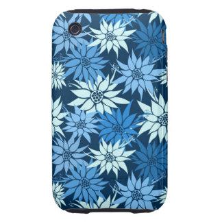 Blue Flowers iPhone 3G/3GS Case-Mate Tough iPhone 3 Case