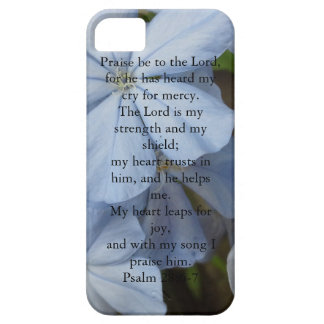 Blue Flowers iPhone 5 and 5S Case for Christians iPhone 5 Cover