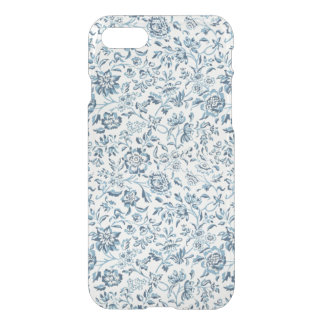 Blue Flowers iPhone 7 Clear Case