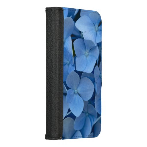 blue flowers iPhone 8/7 wallet case